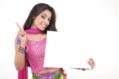 Beautiful girl wearing indian ethnic dress Stock Photo