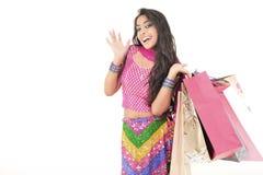 Beautiful girl wearing indian ethnic dress Stock Image