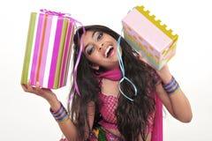 Beautiful girl wearing indian ethnic dress Stock Photography