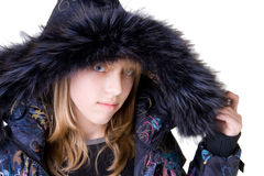 Beautiful girl wearing a jacket Royalty Free Stock Images