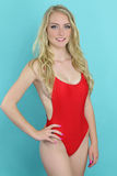Beautiful girl wearing a red bikini Stock Image