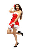Beautiful girl wearing santa claus clothes Royalty Free Stock Images