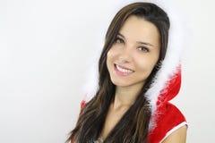 Beautiful girl wearing a santa costume Stock Photos