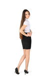 Beautiful girl wearing skirt and shirt Royalty Free Stock Photography