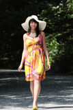 A beautiful girl wearing summer dres Stock Photography