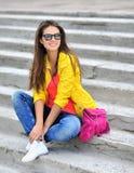 Beautiful girl wearing sunglasses Stock Images