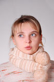 Beautiful girl wearing winter clothing Stock Photos