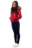 Beautiful girl wearing winter jacket Royalty Free Stock Photography
