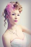 Beautiful girl in wedding dress Stock Photography