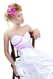 Beautiful girl in wedding dress Stock Images