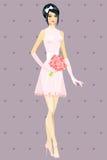 Beautiful girl in wedding dress Royalty Free Stock Photos