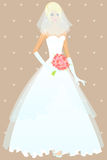 Beautiful girl in wedding dress Royalty Free Stock Photo