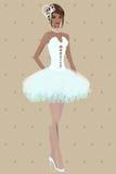 Beautiful girl in wedding dress Stock Image