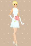 Beautiful girl in wedding dress Stock Photo