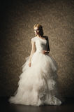 Beautiful girl in a wedding dress Royalty Free Stock Image