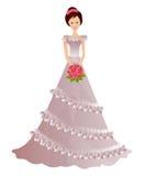 Beautiful girl in wedding dress Stock Photos
