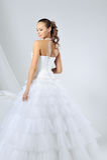 Beautiful girl in wedding dress Royalty Free Stock Photography