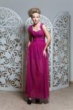 Beautiful girl in wedding gown Stock Image