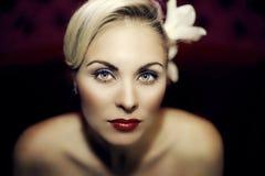 Beautiful girl with a wedding makeup Stock Image