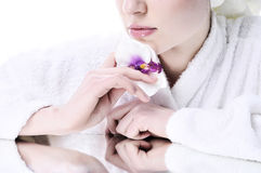 Beautiful girl with a well-groomed skin Stock Photography