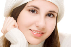 Beautiful girl in white Royalty Free Stock Photography