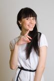 Beautiful girl in white Stock Image