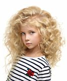 Portrait of the beautiful child isolated on white Royalty Free Stock Image