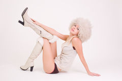 Beautiful girl in white clothes Royalty Free Stock Photography