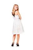 Beautiful girl in white dress Stock Image