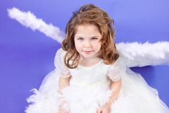 Beautiful girl in white dress Royalty Free Stock Photography