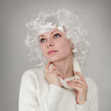 Beautiful girl with white hair Stock Photography
