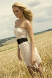 Beautiful girl with white dress Royalty Free Stock Photo