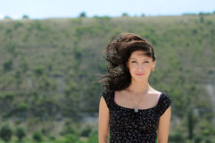 Beautiful girl in a wind Royalty Free Stock Image