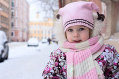 Beautiful girl at the winter Royalty Free Stock Photos