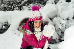 Beautiful girl in winter Royalty Free Stock Image