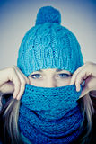 Beautiful girl in winter Stock Photo