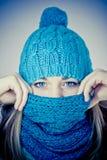 Beautiful girl in winter Stock Photo