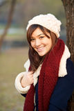 Beautiful girl in winter clothes Stock Photography