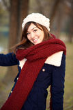 Beautiful girl in winter clothes Stock Photos
