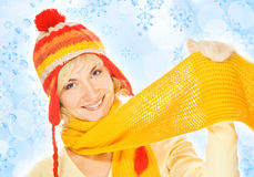 Beautiful girl in winter clothing Royalty Free Stock Images