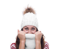Beautiful girl in winter clothing Royalty Free Stock Image