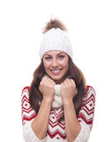 Beautiful girl in winter clothing Royalty Free Stock Photo