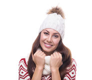 Beautiful girl in winter clothing Stock Photography