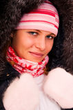 Beautiful girl in a winter jacket Royalty Free Stock Image