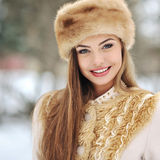 Beautiful girl in winter - outdoor Stock Images