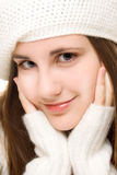 Beautiful girl in winter outfit Royalty Free Stock Photo