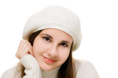 Beautiful girl in winter outfit Royalty Free Stock Image