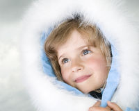 Beautiful girl winter portrait Royalty Free Stock Images
