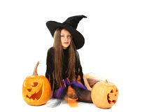 Beautiful girl witch Royalty Free Stock Image