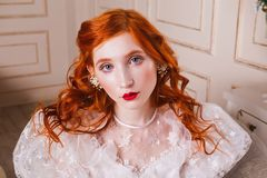 Free Beautiful Girl With Red Hair Royalty Free Stock Photo - 105478615